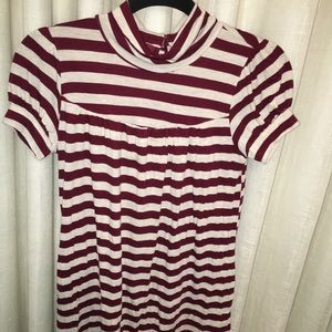 Maroon Striped Ella Moss Dress